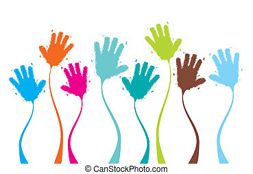 Applause, clapping hands funny, background for your design