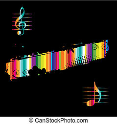Music background black for your design