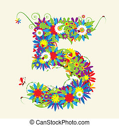 Numbers, floral design. See also numbers in my gallery