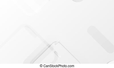 Light grey abstract squares tech video animation