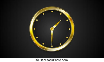 Abstract moving wall clock video animation