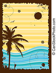 Summer holiday, abstract frame for your design