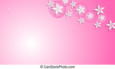 Flowers pink design and breast cancer awareness ribbon video...