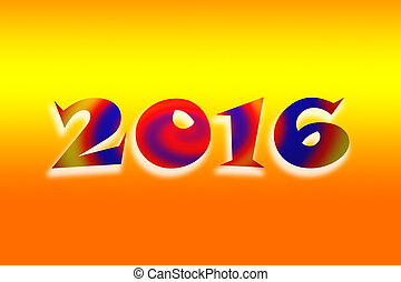 New Year 2016 - Happy New Year 2016 greeting card