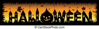 Halloween party background for your design