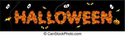 conception,  Halloween, ton, fond, fête