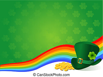 St Patricks Day background theme with copyspace