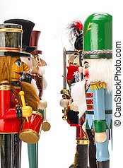 Stand off Christmas Nutcrackers - Traditional Figurine...