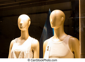 Mannequins in the shop