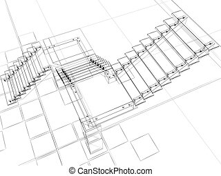 abstract stairs - abstract sketch of stairs