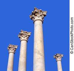 antiga, Grego, pilares