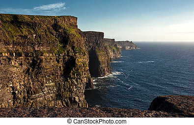 famous cliffs of moher,sunet capture,west of ireland
