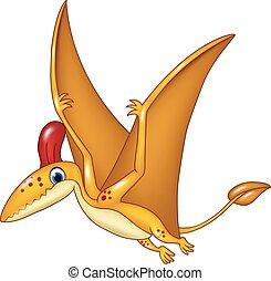 Cartoon funny pterodactyl