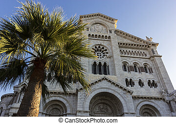 Saint Nicholas Cathedral in Monaco during a sunny morning