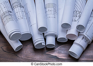 mainten, planes, de madera, vendimia, pino, construcción,...
