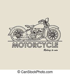 Motorcycle retro poster illustration vector - Motorcycle old...