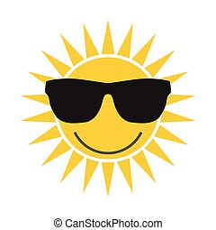 Sun with glasses icon