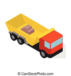 Isometric truck icon isolated on white background