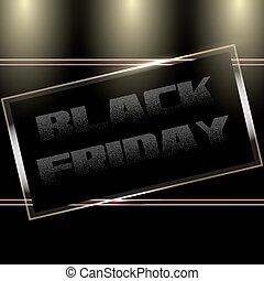 Black Friday Door Plate - Black Friday Sale Glass Door Plate...