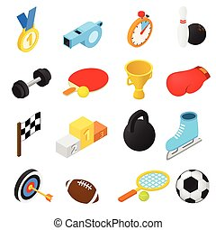 Sport isometric icons