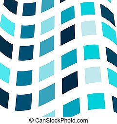 Shades of blue mosaic abstract vector background