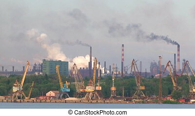 Pollution Of Environment Caused By Factory Smoke Stacks -...