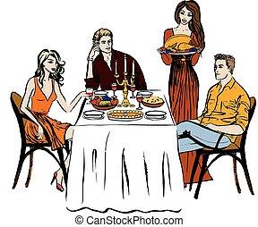 Thanksgiving or Christmas dinner