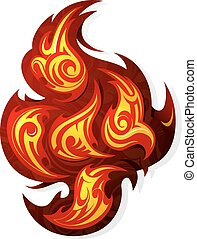 Fire flame tattoo