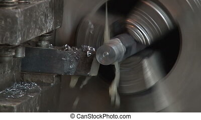 Working of the lathe in the workshop 3