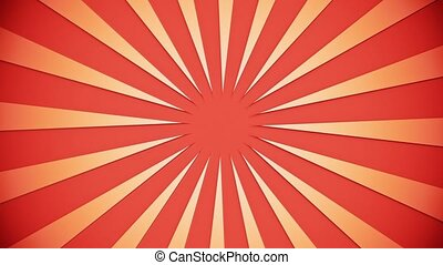 Orange sunburst on light orange