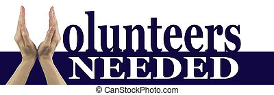 Volunteers Needed Campaign Banner - Female Hands creating a...