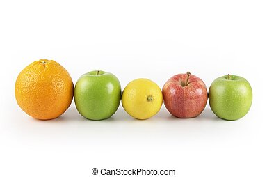 five a day recommendation - five different fruits in a row