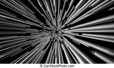 Abstract background in metallic color on black