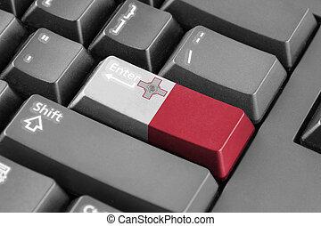 Enter button with Malta Flag