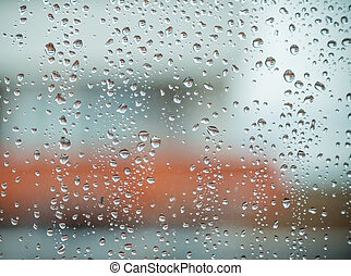 Rain drops on window. - Rain drops on window,rainy day