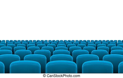 Theater Seats - Rows of Cinema or Theater Blue Seats