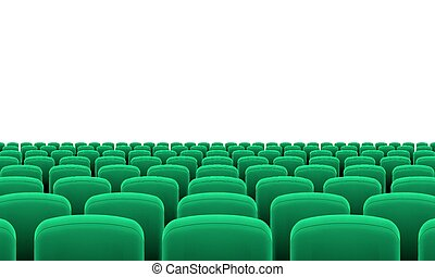 Theater Seats - Rows of Cinema or Theater Green Seats