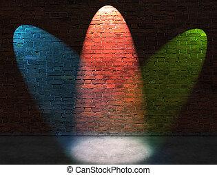 Three RGB spot lights