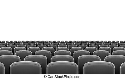 Theater Seats - Rows of Cinema or Theater Black Seats