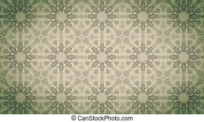 Abstract mosaic in vintage brown