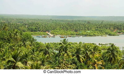Panorama view of Goa nature in India at sunny day