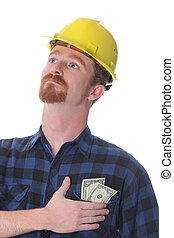 construction worker with earnings