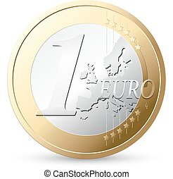1 Euro - European currency - money concept