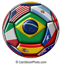 Ball With Various Flags - Football ball - soccer - with...