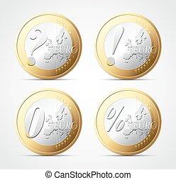 Euro sign - Economy crisis concept
