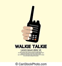 Walkie Talkie In Hand. - Walkie Talkie In Hand Vector...