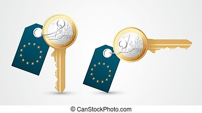 Euro key as money concept