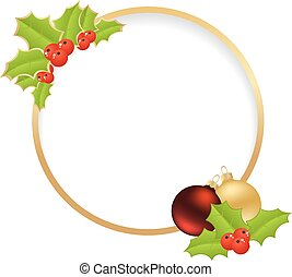 christmas golden frame