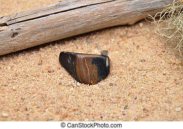 Sard-onyx on beach