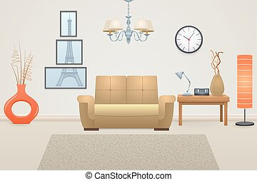 Living Room Interior - Living room interior concept with...
